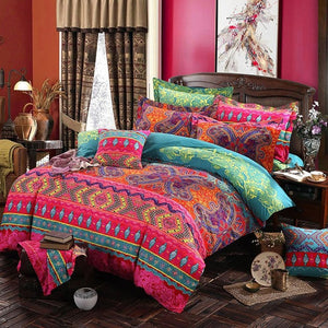 Ethnic Style Bedding Set Full Queen Size Mandala Print Duvet Cover