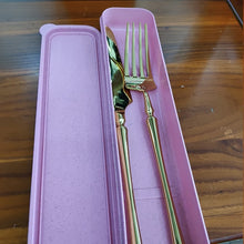 Load image into Gallery viewer, New Stainless Steel Golden Cutlery Set Mirror