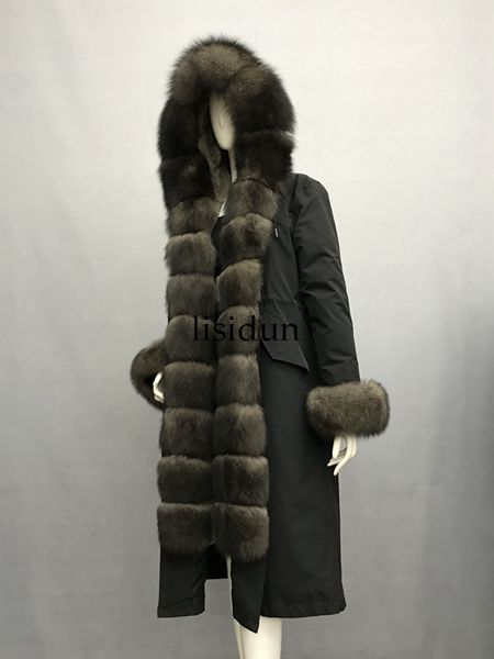 LISIDUN 2019 Real Fur Parka Women Winter Jacket Nature4