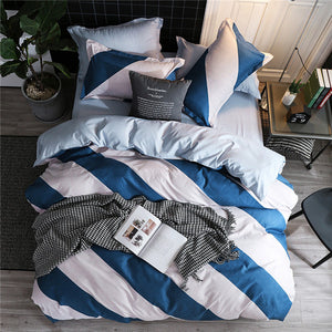 Colorful Bedding Set 5 Size Solid Color Bed Linings Duvet Pillowcases