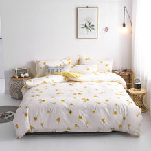 Load image into Gallery viewer, Comforter Bedding Sets For Children Lovely Yellow Duck Bed