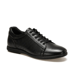 FLO Black Men's Sneakers Men Casual Sport Shoes Flat Lace-up