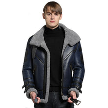 Load image into Gallery viewer, Quality Real Sheepskin Fur Men Coat Genuine Full Pelt Sheep Shearling