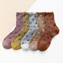 Load image into Gallery viewer, New women's summer thin casual silk socks with
