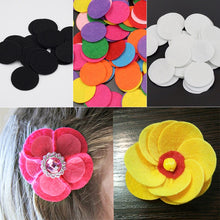 Load image into Gallery viewer, 200Pcs/lot Non-Woven Felt Fabric Eco-friendly Round