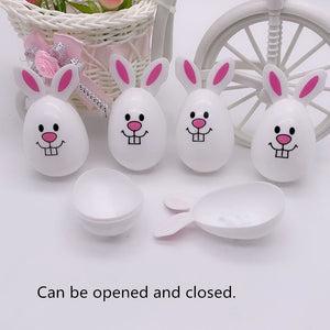 4pcs Easter egg DIY cute bunny Home decoration Kindergarten