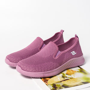 women's sneakers slip on soft women's shoes flat casual sock shoes