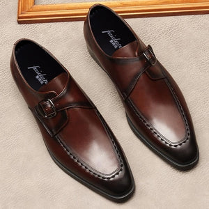 Fashion Pointed Toe Single Man Office Shoes