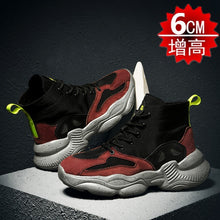 Load image into Gallery viewer, Hight-top Superfine Fibre Elevator Shoes Teenager Sports