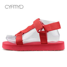 Load image into Gallery viewer, Summer Shoes Ladies Foam Platform sandals Hook Loop Beach sandal