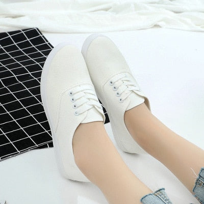Loafers canvas Shoe Sneakers For Women Shoes Breathable Women's
