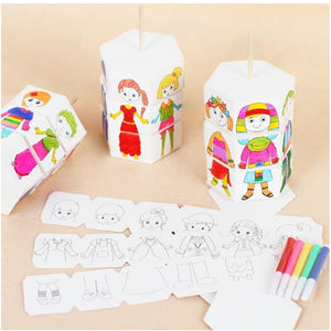 Children Rotary DIY Paper Colour Matching Rotation Change