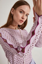 Load image into Gallery viewer, Joinus Cellular Sleeve Detail Women Knitwear Summer