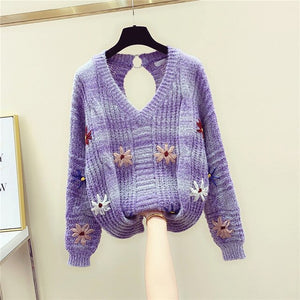 New Knitted Sweater Women Fall/winter Loose