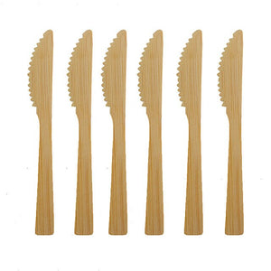 New Eco Friendly Tableware Set Bamboo Cutlery Set Wooden Knife Fork Spoon Flatware Set Biodegradable For Kitchen Utensils