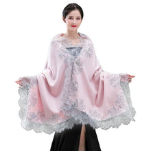 Load image into Gallery viewer, Floral Lace Wedding Cape