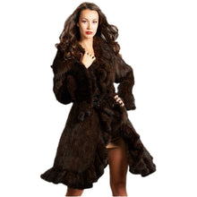 Load image into Gallery viewer, Luxury Women Genuine Mink fur ruffle design Knitted