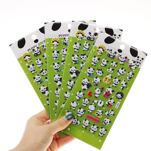 1PC Cute Panda 3D Bubble Sticker Decoration