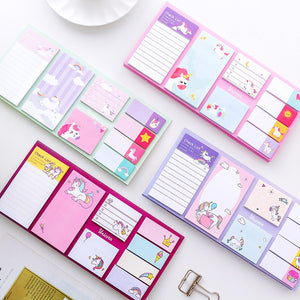 Cartoon Unicorn Dream Memo Pad N Times