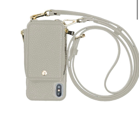 Grey Phone Crossbody
