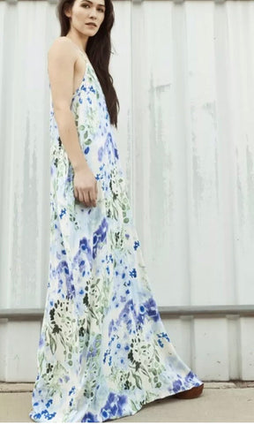 Love Stitch Floral Maxi Cocoon Dress