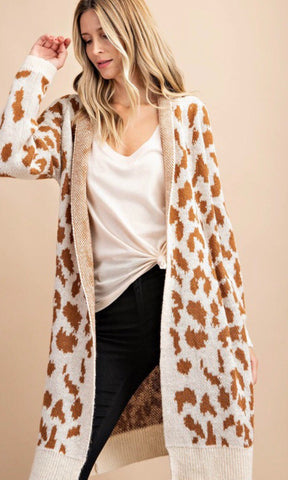 Leopard Cardigan Cream