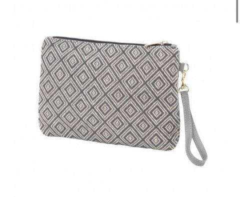 Grey Diamond Wristlet