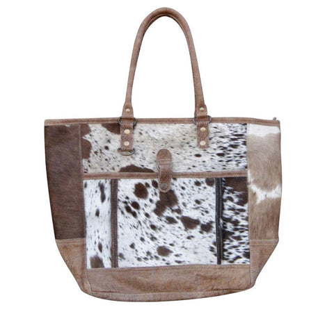 Hairon Leather Tote Handbag Purse
