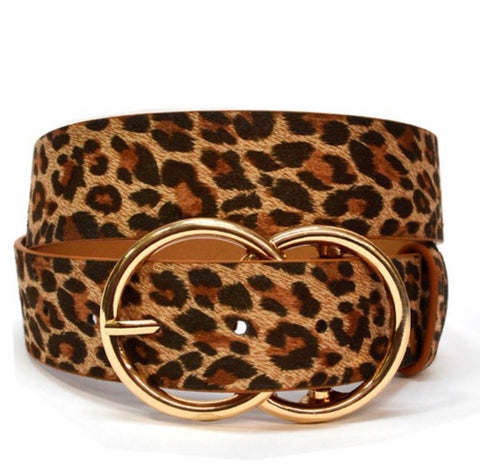 Leopard Double Ring Belt