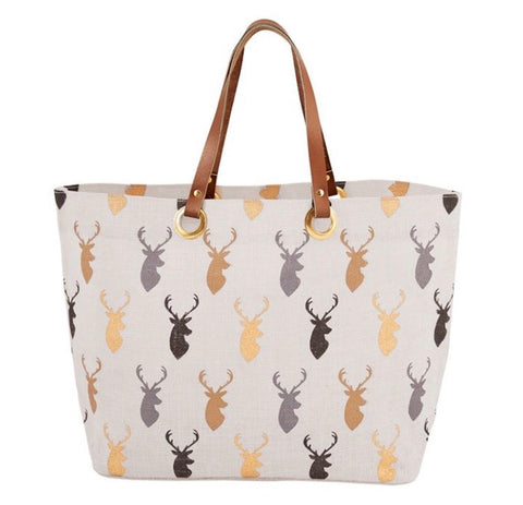 Mud Pie Lodge Tote White