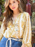 Golden Snakeskin Top
