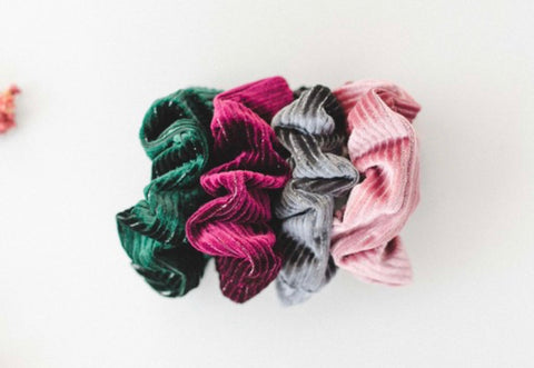 Velvet Stripe Scrunchie