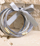 Silver Jelly Bangle Set