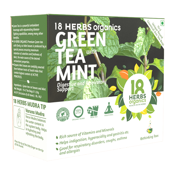 18 Herbs Organics Green Tea with Mint