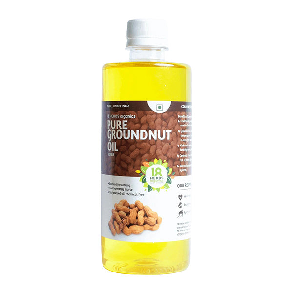 18 Herbs Organics Pure Edible Groundnut Oil