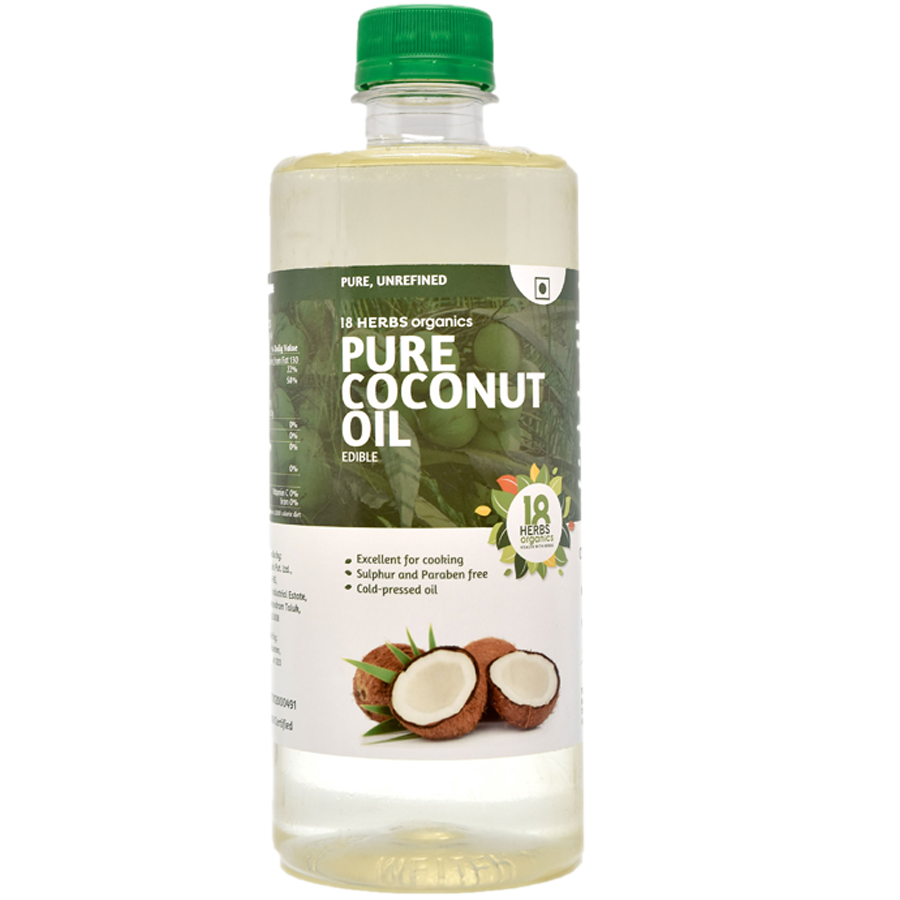 18 Herbs Organics Pure Edible Coconut Oil