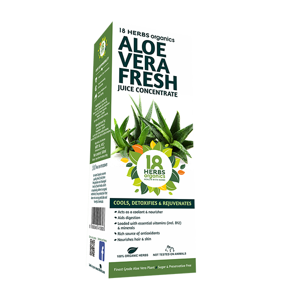 18 Herbs Organics Aloe Vera Fresh Juice Concentrate