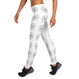 black flower sport Leggings