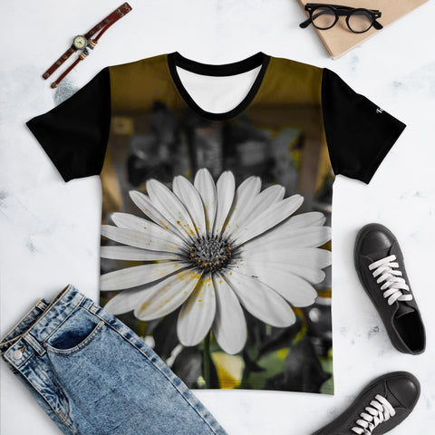 black flower Women's T-shirt TeMa.brand