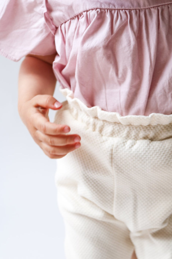 Ecru Limited Edition High-waisted Baby Trousers