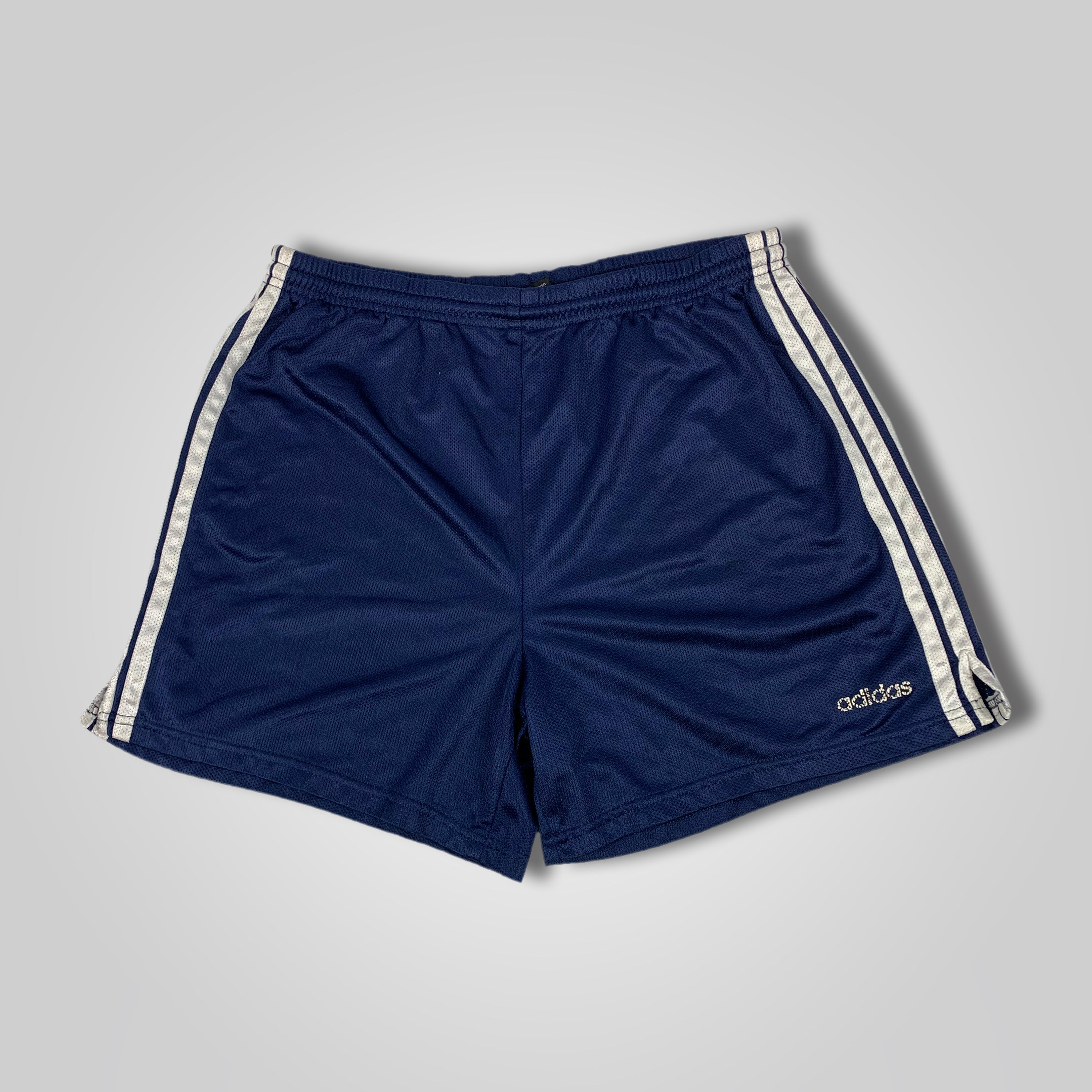 90s Adidas Spell Out Three Stripe Gym Shorts