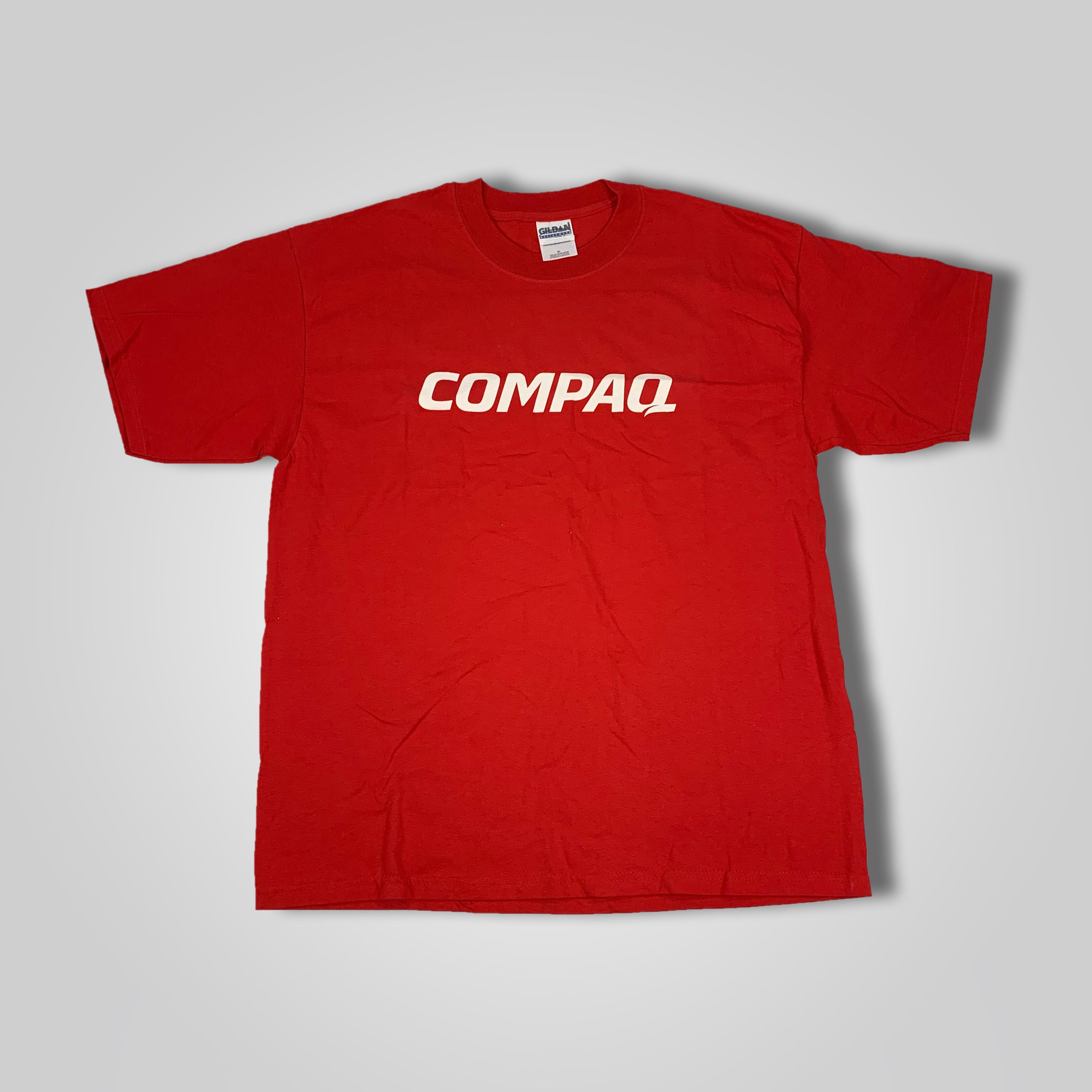 90s Compaq Computers Spell Out Promo Tech Software T-Shirt