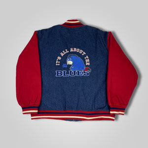 90s / Y2K Disney Eeyore Its All About The Blues Varsity Jacket