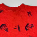 Load image into Gallery viewer, 90s Golden Colorado All Over Fish Print T-Shirt