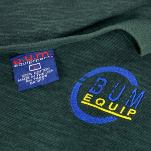 90s BUM Equipment Spell Out Ringer T-Shirt