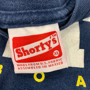 90s SHORTYS Skateboards Spell Out T-Shirt Thrashed