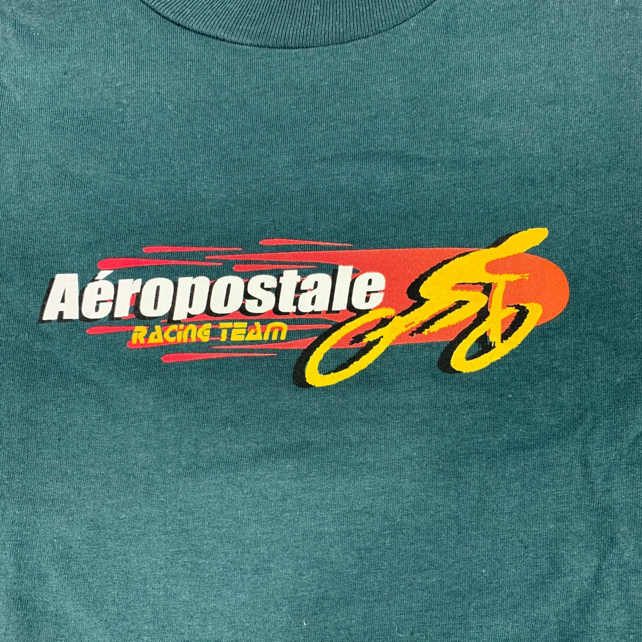 90s Aeropostale Racing Team Spell Out Long Sleeve T-Shirt