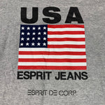 Load image into Gallery viewer, 90s ESPRIT Jeans USA Flag Spell Out T-Shirt