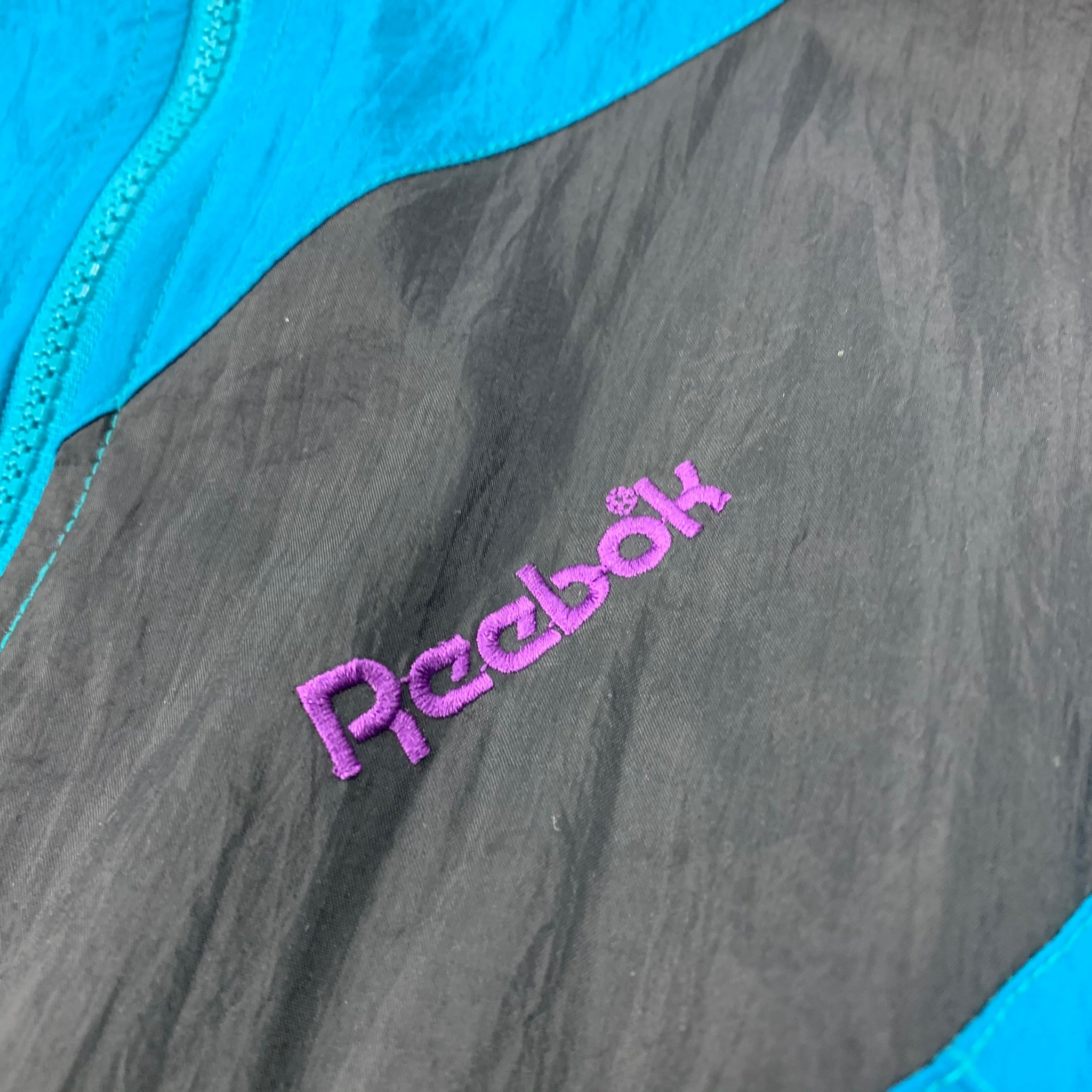 90s Reebok Color Block Womens Windbreaker