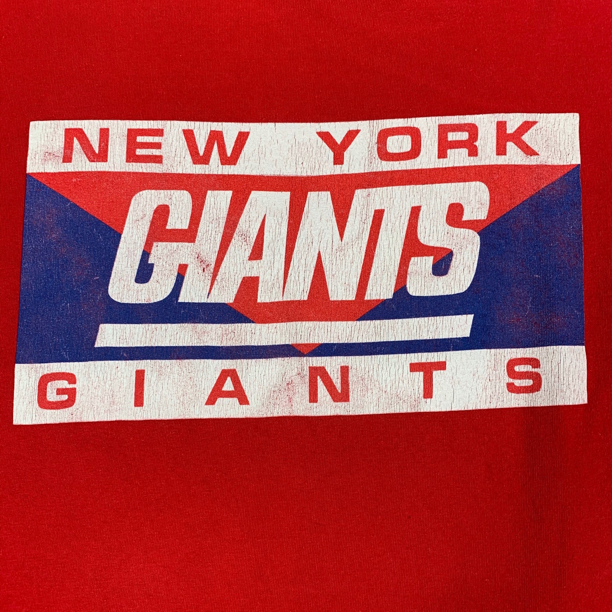 90s Concepts Sport New York Giants Spell Out T-Shirt